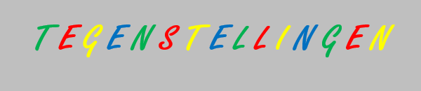 Banner tegenstellingen